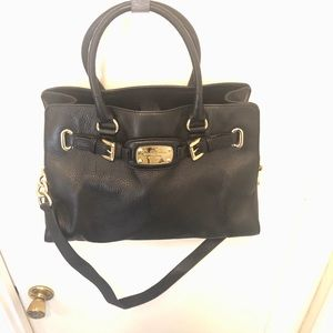 Black and Gold Large Tote Purse